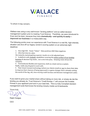 Wallace Mgmt Letter